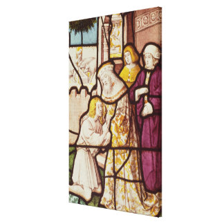 Window depicting the Return of the Prodigal Canvas Print