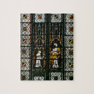Window depicting the Virgin and Raoul de Ferrieres Jigsaw Puzzle