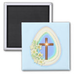 Window Egg and Cross Magnets