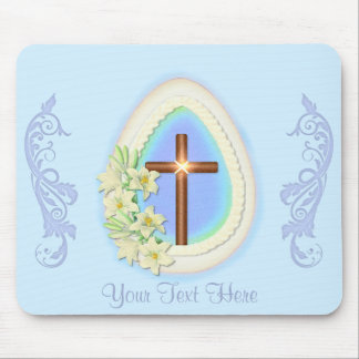 Window Egg and Cross Mouse Mat