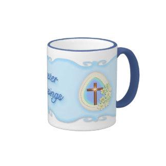 Window Egg and Cross Ringer Mug