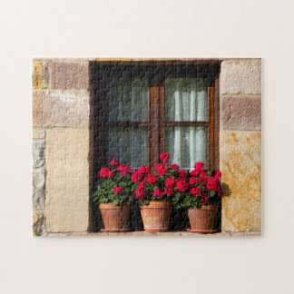 Window flower pots in village jigsaw puzzle