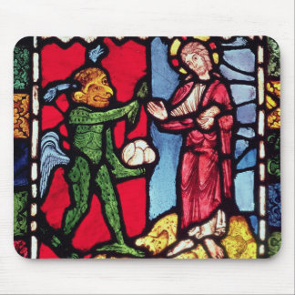Window from Troyes Cathedral showing the Temptatio Mouse Pad