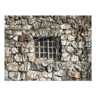 Window In A Wall Of Stone Photographic Print