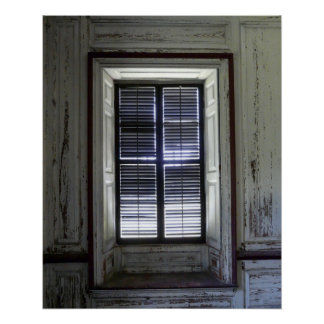 Window in Drayton Hall, Charleston Poster