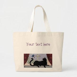 window kitty jumbo tote bag