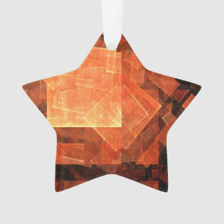 Window Light Abstract Art Acrylic Star Ornament