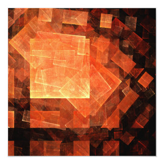 "Window Light Abstract Art 5.25"" Square Invitation Card"