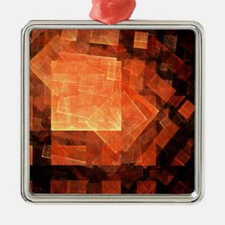 Window Light Abstract Art Square Christmas Ornament