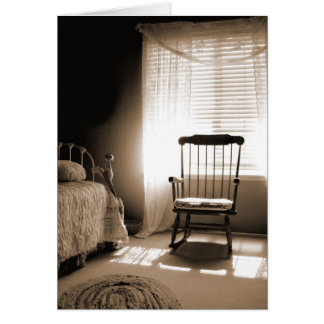 Window Light Room In Sepia Greeting Cards