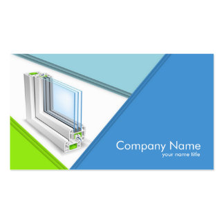 Window Manufacturing Company Business Card
