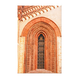 WINDOW OF GOTHIC STYLE   WRAPPED CANVAS