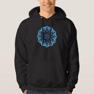 Window of Hope, Abstract Crystal Healing Hooded Sweatshirt