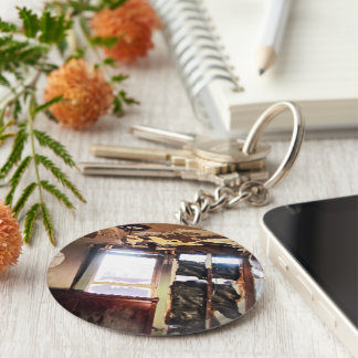 Window of Poverty Basic Round Button Key Ring