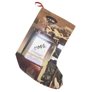 Window of Poverty Small Christmas Stocking