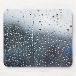 Window Raindrops Mouse Pad