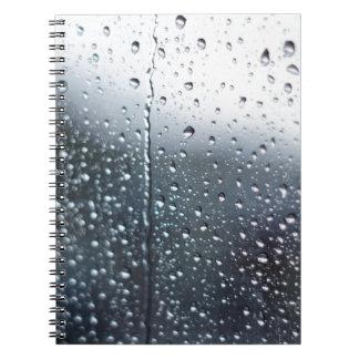 Window Raindrops Notebooks