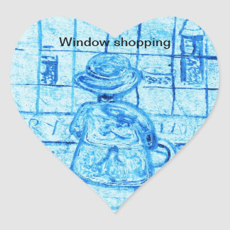 Window shopping Sticker