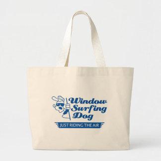 Window Surfing Dog 2 Jumbo Tote Bag