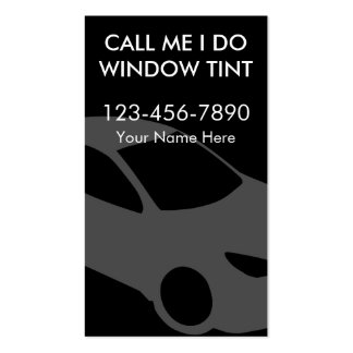 Window Tinting Business Cards