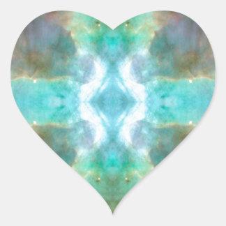 Window to Heaven Space Art Heart Sticker