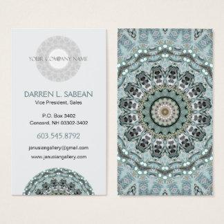 Window to the World Kaleidoscopic Mandala Business Card