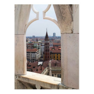 Window to the World Postcard - (from Milan Duomo)