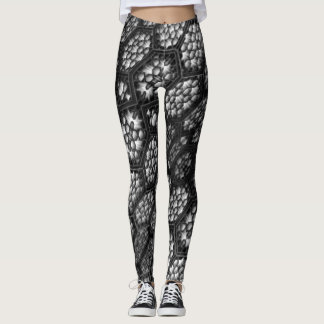 Window to World Star Black and White Designed Leggings