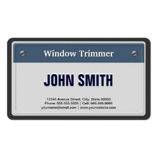 Window Trimmer - Cool Car License Plate Business Card Template