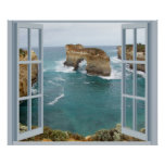 Window View Ocean Poster