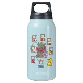 Window Vintage Art Insulated Water Bottle