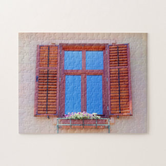 Window With Wooden Shutters Jigsaw Puzzle