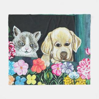 WindowBox Pets  throw Fleece Blanket