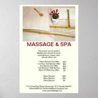 Windowpane Spa Massage Beauty Salon Poster