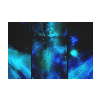 Windows in Space -Blue Nebula Canvas Print