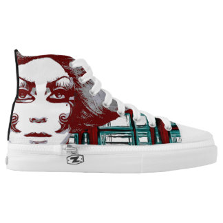 Windows lace tennis shoes printed shoes