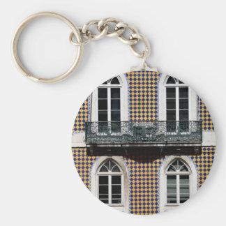 Windows of Lisbon Basic Round Button Key Ring