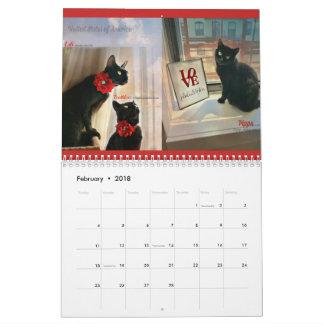 Windows To Black Cats Of the World 2018 Calendar