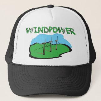 WindPower - Wind Power Shirt Design Trucker Hat