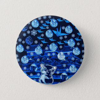 Winds niyanko castle snow compilation 6 cm round badge