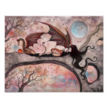 Winds of Autumn Gothic Dragon Fairy Vampire Poster