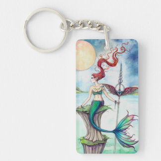 Winds of Ireland Mermaid Fantasy Art Key Ring