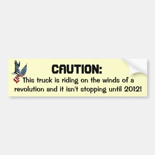 Winds of revolution bumper sticker