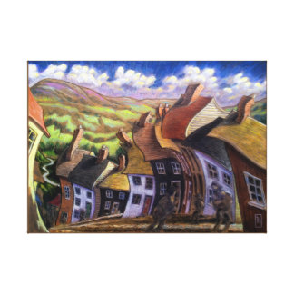 Winds Over Wiltshyre Old Country Village Canvas Print