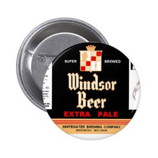 WINDSOR BEER Whitewater brewing WISCONSIN Design 6 Cm Round Badge
