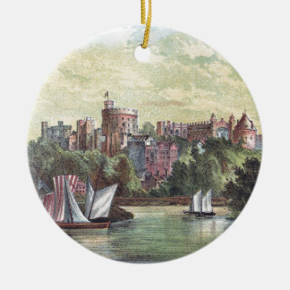 Windsor Castle Across the Thames Christmas Ornament
