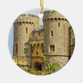 Windsor castle at spring time round ceramic decoration