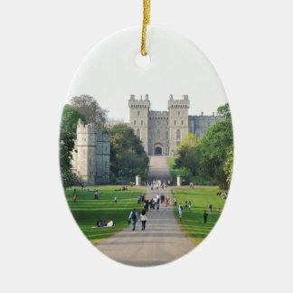 Windsor castle ceramic oval decoration