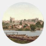 Windsor Castle England Round Stickers