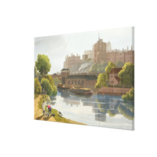 Windsor Castle, from a compilation of views of Win Canvas Print